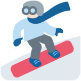 Snowboarder: Light Skin Tone on Twitter Twemoji 12.1.6