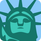 Statue of Liberty on Twitter Twemoji 12.1.6