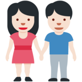 Woman and Man Holding Hands: Light Skin Tone on Twitter Twemoji 12.1.6