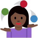 Woman Juggling: Dark Skin Tone on Twitter Twemoji 12.1.6