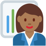 Woman Office Worker: Medium-Dark Skin Tone on Twitter Twemoji 12.1.6