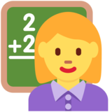 Woman Teacher on Twitter Twemoji 12.1.6