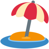 Beach with Umbrella on Twitter Twemoji 13.0