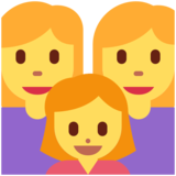 Family: Woman, Woman, Girl on Twitter Twemoji 13.0