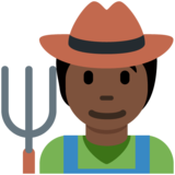 Farmer: Dark Skin Tone on Twitter Twemoji 13.0