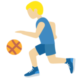 Man Bouncing Ball: Medium-Light Skin Tone on Twitter Twemoji 13.0