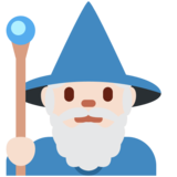 Man Mage: Light Skin Tone on Twitter Twemoji 13.0