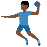 Man Playing Handball: Dark Skin Tone on Twitter Twemoji 13.0