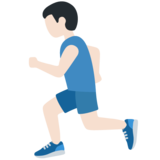 Man Running: Light Skin Tone on Twitter Twemoji 13.0
