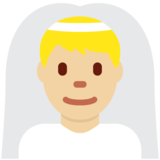 Man with Veil: Medium-Light Skin Tone on Twitter Twemoji 13.0