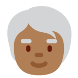 Older Person: Medium-Dark Skin Tone on Twitter Twemoji 13.0