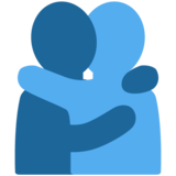 People Hugging on Twitter Twemoji 13.0