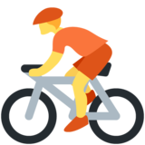 Person Biking on Twitter Twemoji 13.0