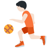 Person Bouncing Ball: Light Skin Tone on Twitter Twemoji 13.0