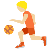 Person Bouncing Ball: Medium-Light Skin Tone on Twitter Twemoji 13.0