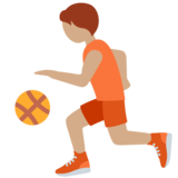 Person Bouncing Ball: Medium Skin Tone on Twitter Twemoji 13.0