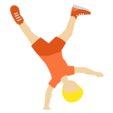 Person Cartwheeling: Medium-Light Skin Tone on Twitter Twemoji 13.0