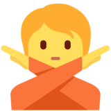 Person Gesturing No on Twitter Twemoji 13.0