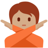 Person Gesturing No: Medium Skin Tone on Twitter Twemoji 13.0
