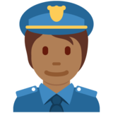 Police Officer: Medium-Dark Skin Tone on Twitter Twemoji 13.0