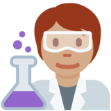 Scientist: Medium Skin Tone on Twitter Twemoji 13.0