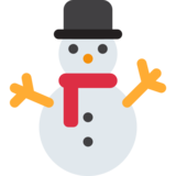 Snowman Without Snow on Twitter Twemoji 13.0