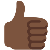 Thumbs Up: Dark Skin Tone on Twitter Twemoji 13.0