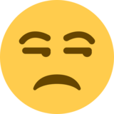 Unamused Face on Twitter Twemoji 13.0