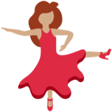 Woman Dancing: Medium Skin Tone on Twitter Twemoji 13.0