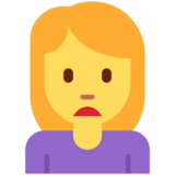 Woman Frowning on Twitter Twemoji 13.0