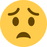 Worried Face on Twitter Twemoji 13.0