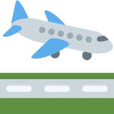 Airplane Arrival on Twitter Twemoji 13.0.1