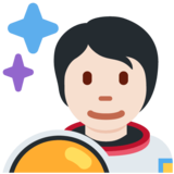 Astronaut: Light Skin Tone on Twitter Twemoji 13.0.1