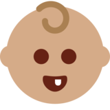 Baby: Medium Skin Tone on Twitter Twemoji 13.0.1