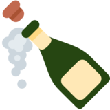 Bottle with Popping Cork on Twitter Twemoji 13.0.1