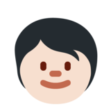 Child: Light Skin Tone on Twitter Twemoji 13.0.1