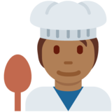 Cook: Medium-Dark Skin Tone on Twitter Twemoji 13.0.1