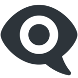 Eye in Speech Bubble on Twitter Twemoji 13.0.1