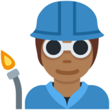 Factory Worker: Medium-Dark Skin Tone on Twitter Twemoji 13.0.1