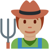 Farmer: Medium Skin Tone on Twitter Twemoji 13.0.1