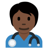 Health Worker: Dark Skin Tone on Twitter Twemoji 13.0.1