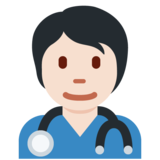 Health Worker: Light Skin Tone on Twitter Twemoji 13.0.1