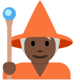 Mage: Dark Skin Tone on Twitter Twemoji 13.0.1
