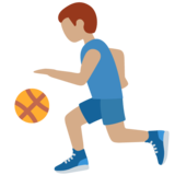 Man Bouncing Ball: Medium Skin Tone on Twitter Twemoji 13.0.1