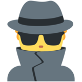 Man Detective on Twitter Twemoji 13.0.1