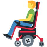 Man in Motorized Wheelchair on Twitter Twemoji 13.0.1