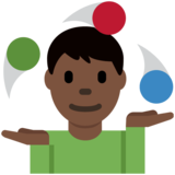 Man Juggling: Dark Skin Tone on Twitter Twemoji 13.0.1