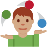 Man Juggling: Medium Skin Tone on Twitter Twemoji 13.0.1