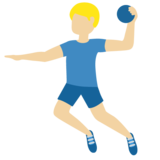 Man Playing Handball: Medium-Light Skin Tone on Twitter Twemoji 13.0.1