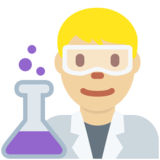 Man Scientist: Medium-Light Skin Tone on Twitter Twemoji 13.0.1